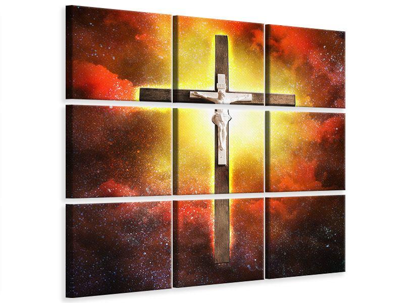 Leinwandbild 9-teilig Heiliges Kreuz