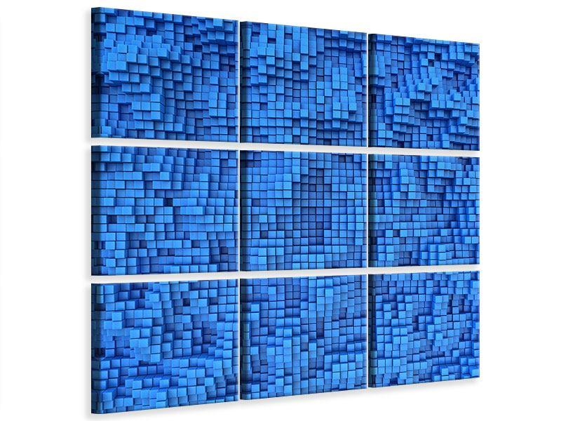 Leinwandbild 9-teilig 3D-Mosaik