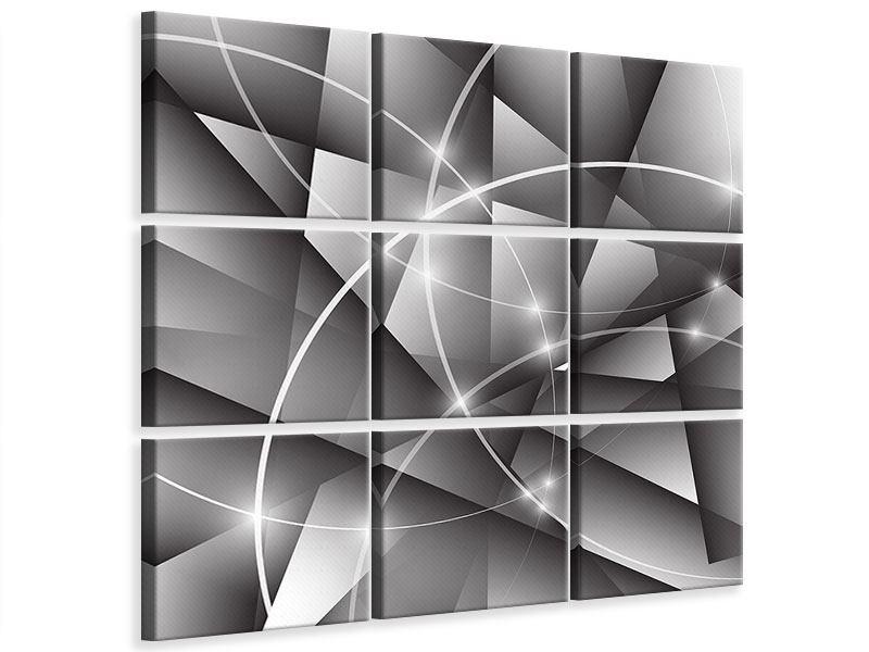 Leinwandbild 9-teilig Geometrie