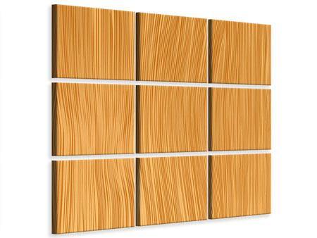 Leinwandbild 9-teilig Wooden