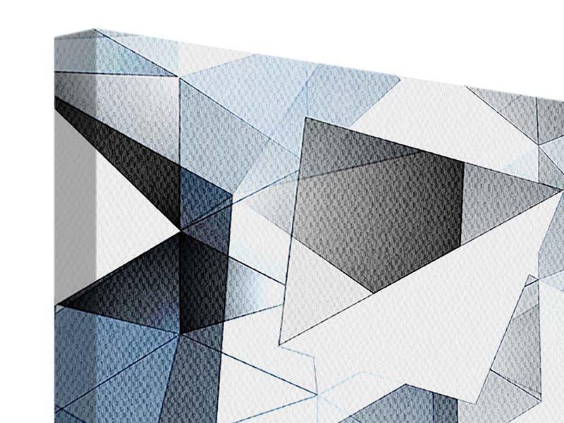 Leinwandbild 9-teilig 3D-Kristalle
