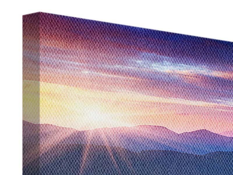 Leinwandbild 9-teilig Sonnenuntergang in der Bergwelt