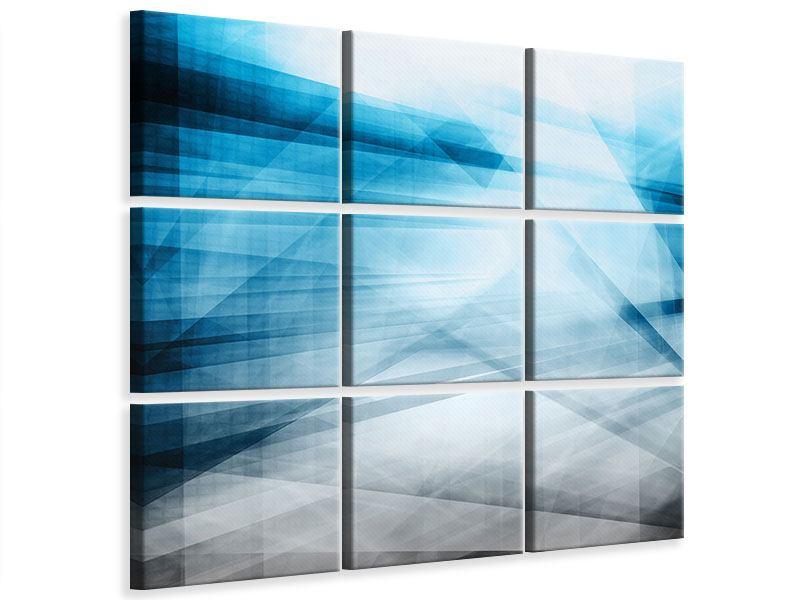 Leinwandbild 9-teilig Abstrakte Lichtshow
