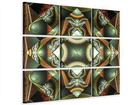 Leinwandbild 9-teilig Fraktales Bild