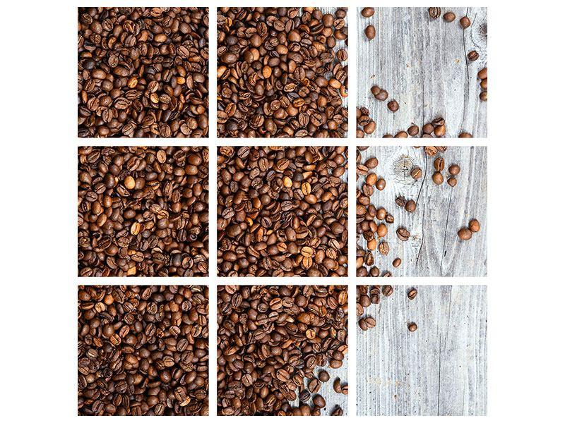 Leinwandbild 9-teilig Kaffeebohnen