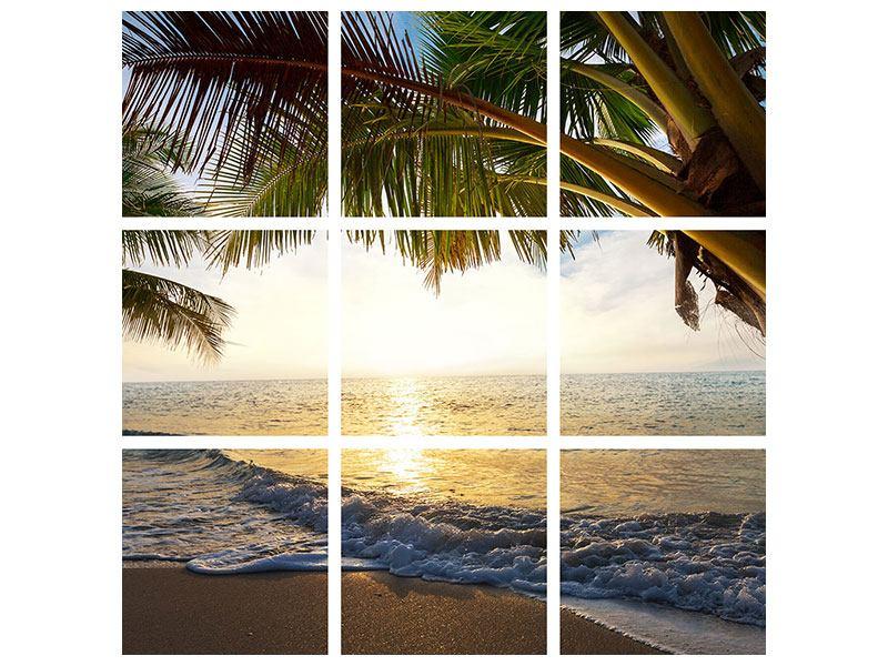Leinwandbild 9-teilig Strandsicht