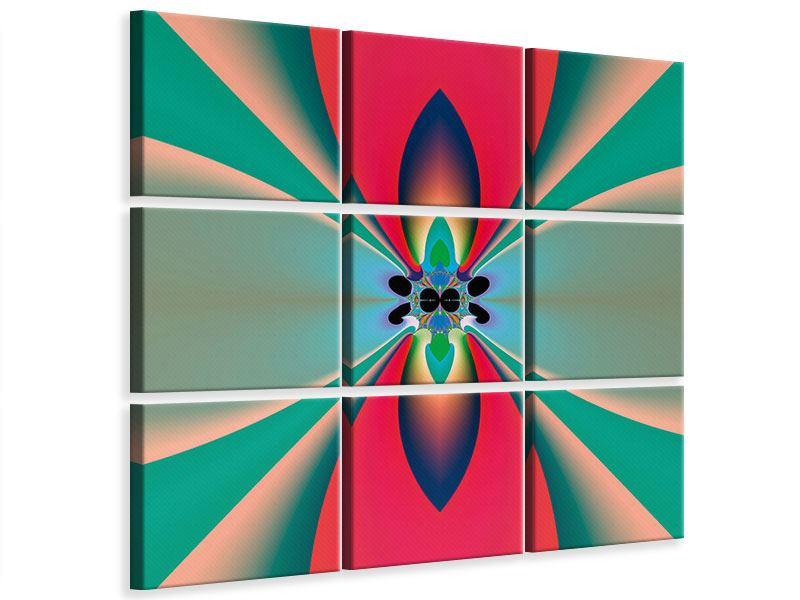 Leinwandbild 9-teilig Psychedelic Art