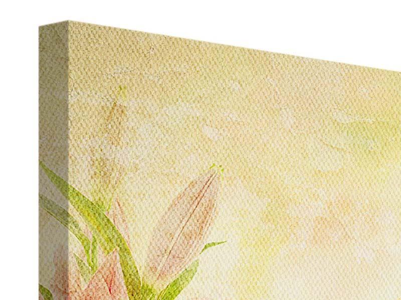 Leinwandbild 9-teilig Lilien-Gemälde