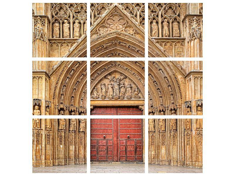Leinwandbild 9-teilig Kathedrale von Valencia