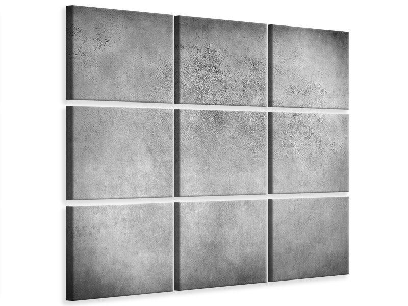 Leinwandbild 9-teilig Graue Wandschattierungen