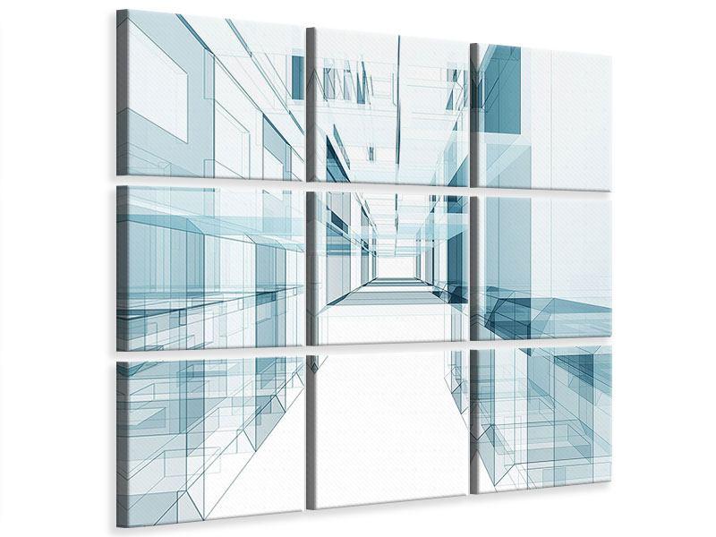 Leinwandbild 9-teilig Raum der Räume