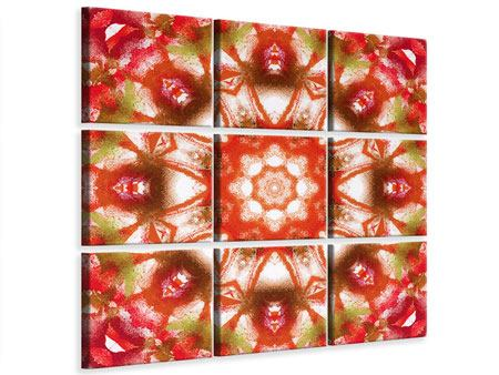 Leinwandbild 9-teilig Geometrisches Gemälde
