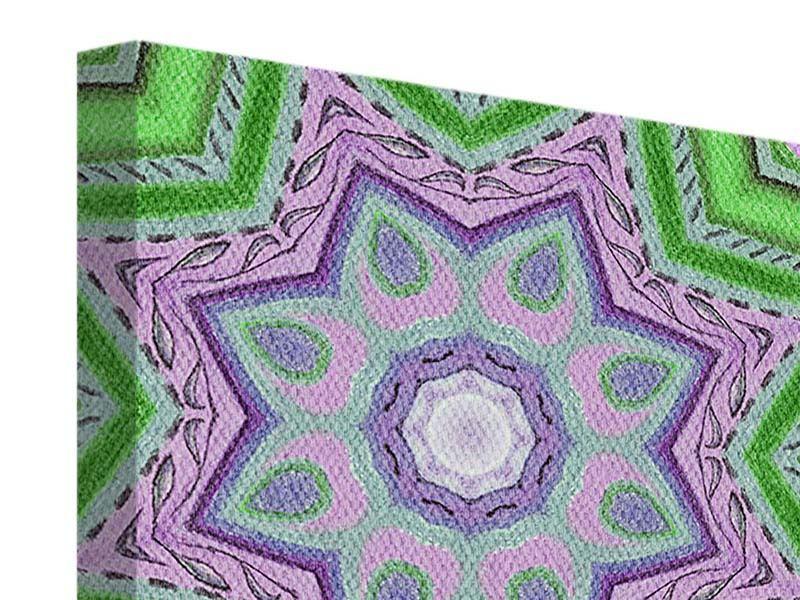 Leinwandbild 9-teilig Paisley-Style