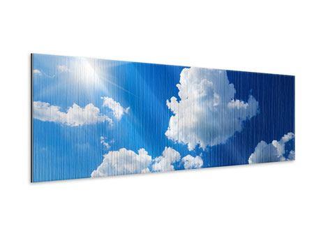 Metallic-Bild Panorama Himmelblau