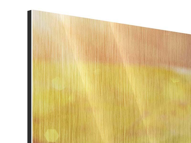 Metallic-Bild Panorama Seerose
