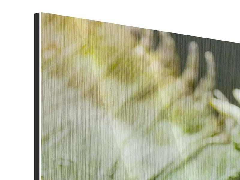 Metallic-Bild Panorama XXL Leguan