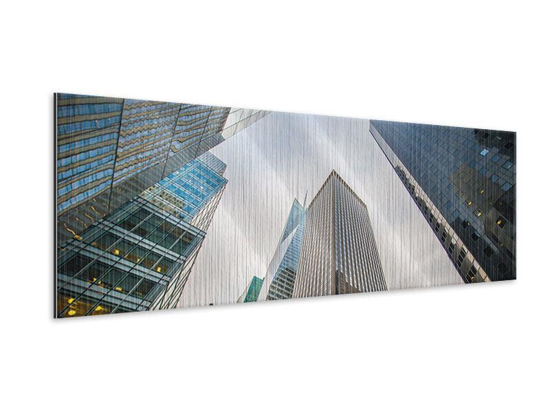 Metallic-Bild Panorama Hochhäuser