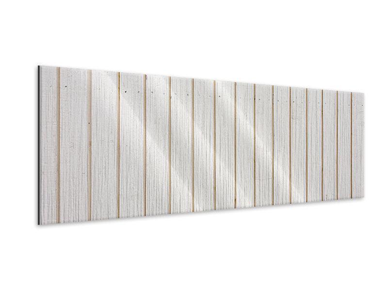 Metallic-Bild Panorama Mediterranes Holz