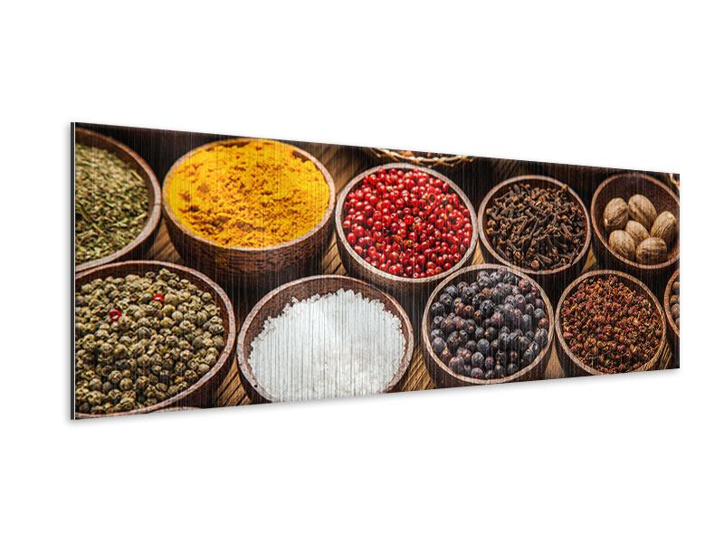 Panoramic Metallic Print Hot Spices
