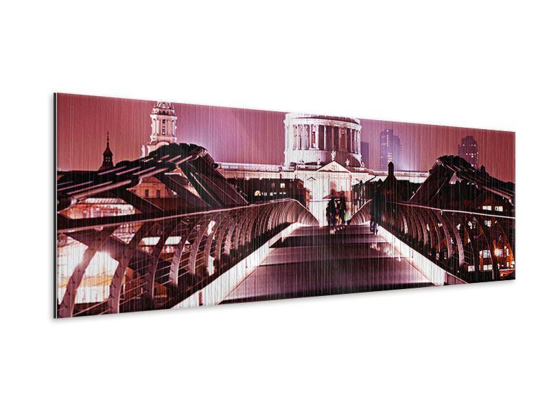 Metallic-Bild Panorama Millennium Bridge