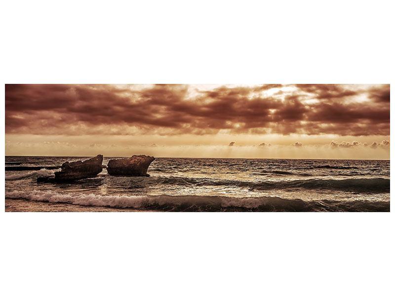 Metallic-Bild Panorama Meeresrauschen