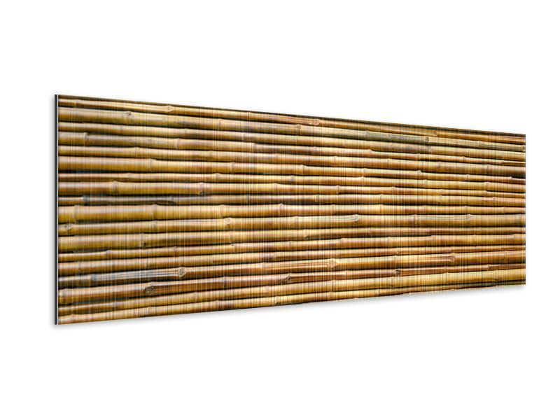 Metallic-Bild Panorama Bambus