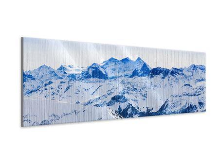 Metallic-Bild Panorama Die Schweizer Alpen