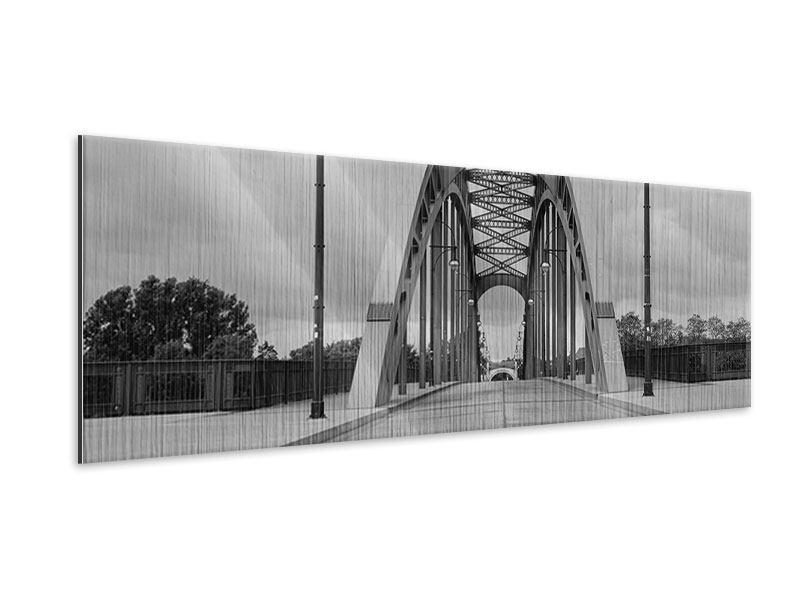 Metallic-Bild Panorama Poetische Brücke