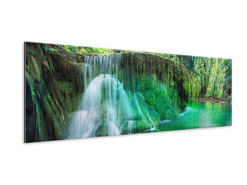 Panoramic Metallic Print In Paradise