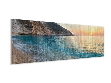 Metallic-Bild Panorama Felsen