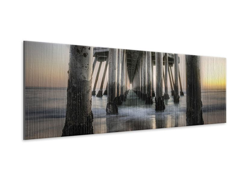 Metallic-Bild Panorama Brückenpfeiler