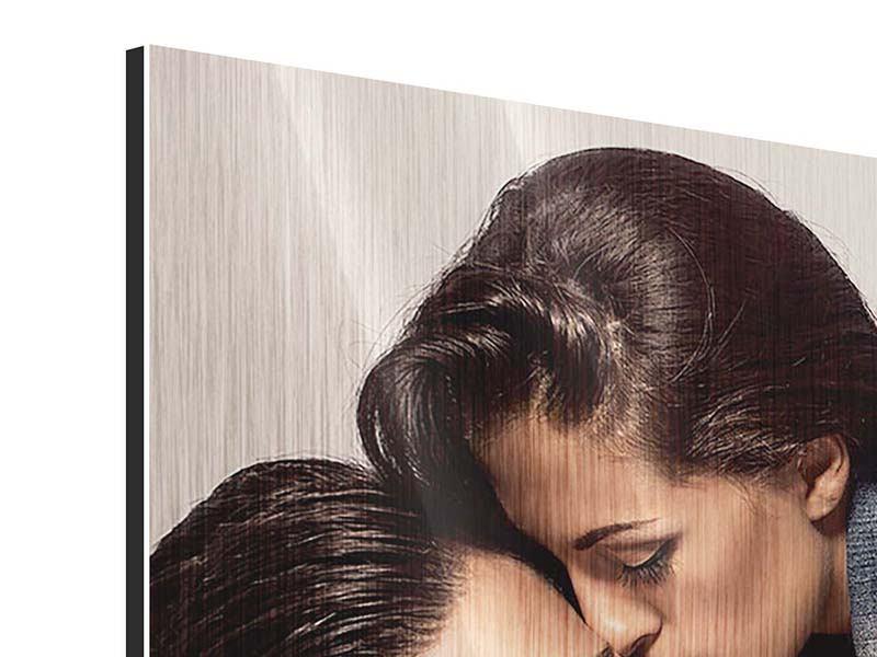 Metallic-Bild Panorama Love Is In The Air