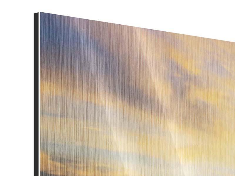 Metallic-Bild Panorama Die Brücke ins Meer