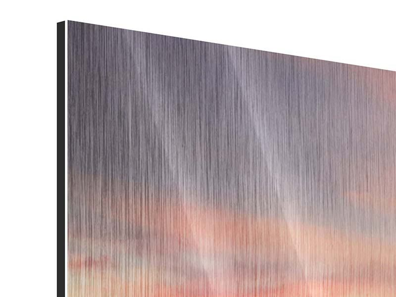 Metallic-Bild Panorama Paradiesische Brücke