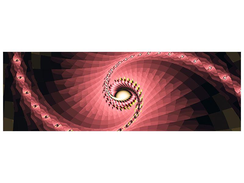Metallic-Bild Panorama Abstrakte Windungen