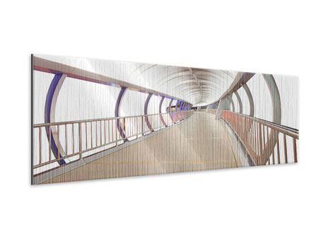 Metallic-Bild Panorama Brückenfeeling