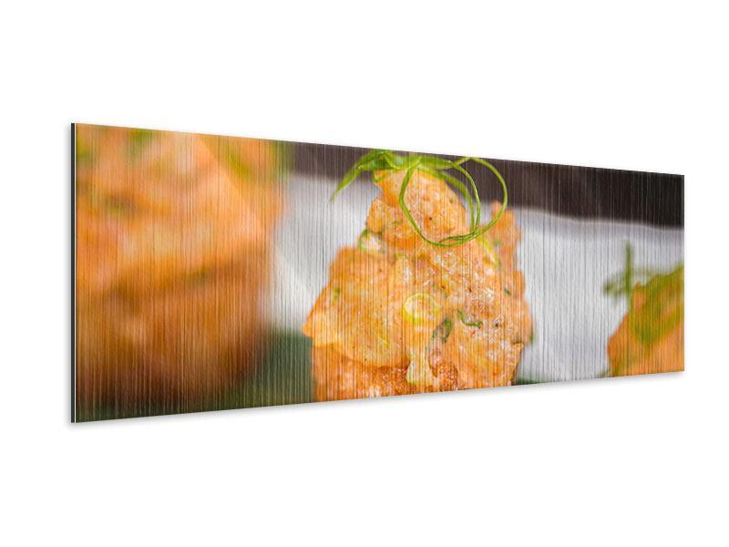 Metallic-Bild Panorama Asiatische Küche
