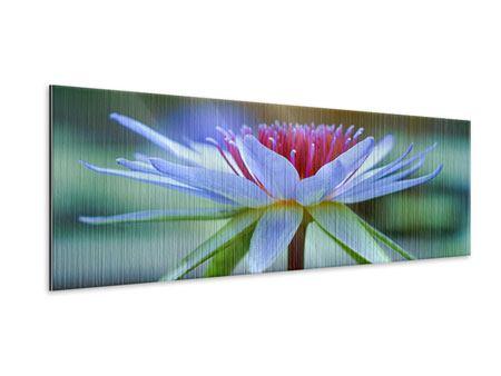 Metallic-Bild Panorama Pretty Lotus