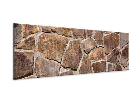 Metallic-Bild Panorama Designmauer
