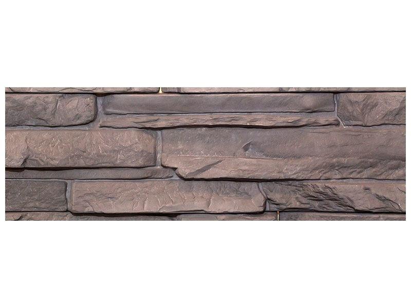 Metallic-Bild Panorama Luxusmauer