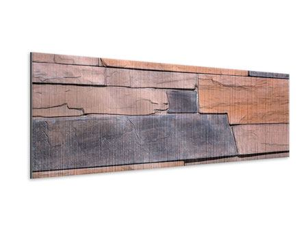 Metallic-Bild Panorama Wall