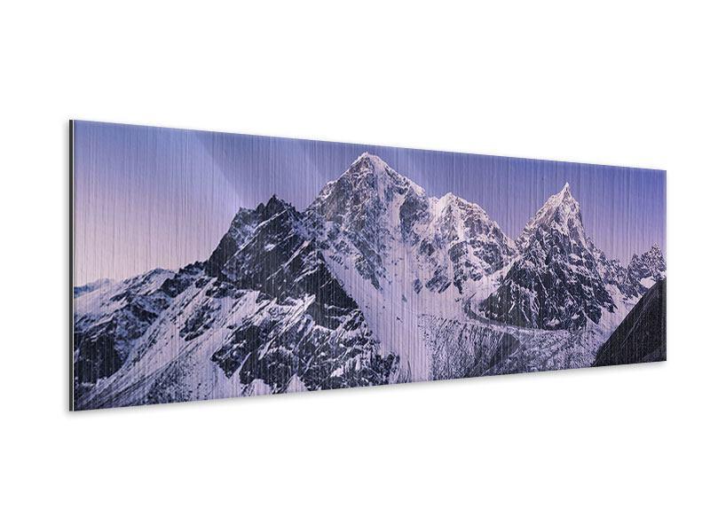 Metallic-Bild Panorama Taboche und Cholatse