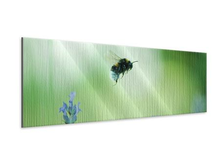Metallic-Bild Panorama Die Biene