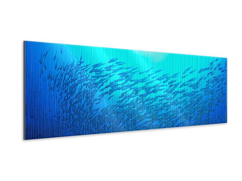 Metallic-Bild Panorama Fischwelt