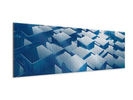 Metallic-Bild Panorama 3D-Cubes