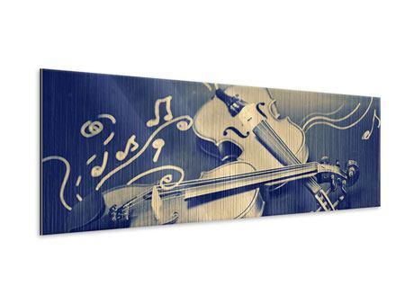 Metallic-Bild Panorama Geigen