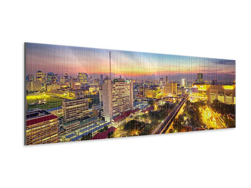 Metallic-Bild Panorama Bangkok