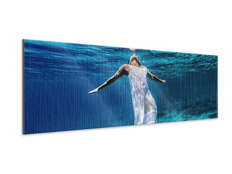 Metallic-Bild Panorama Schönheit unter Wasser