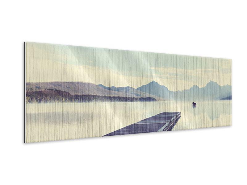 Metallic-Bild Panorama Bergromantik
