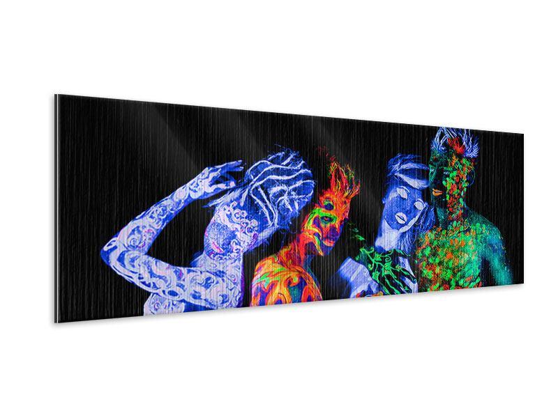 Metallic-Bild Panorama Bodypainting